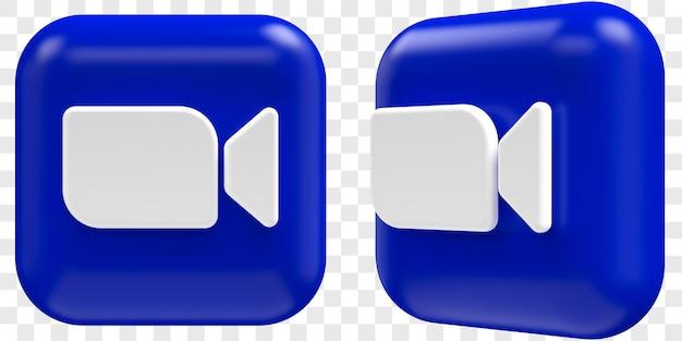 두 각도 전면 및 3/4 격리 된 그림의 3d 확대/축소 아이콘