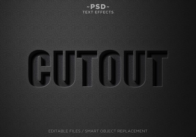 Редактируемый текст с эффектами черного черного 3d