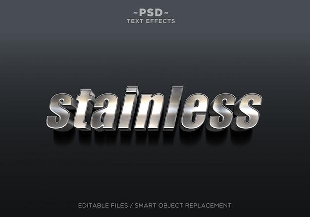 3dステンレス効果編集可能なテキスト
