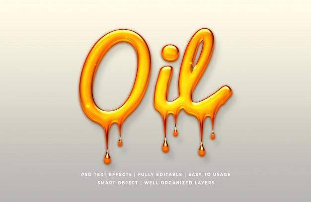 Нефть 3d эффект стиля текста