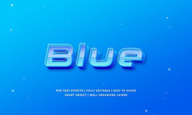 青い3dテキストスタイルの効果