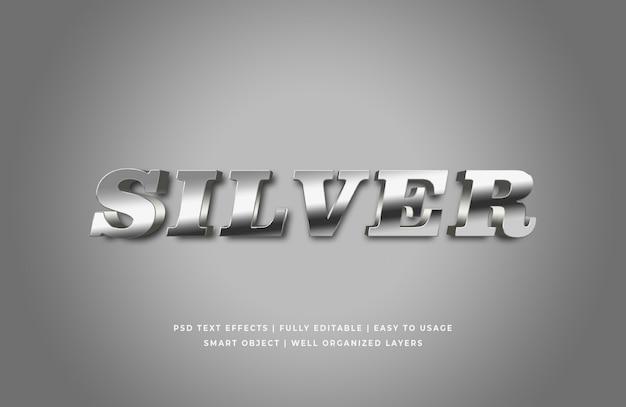 Серебро 3d эффект стиля текста