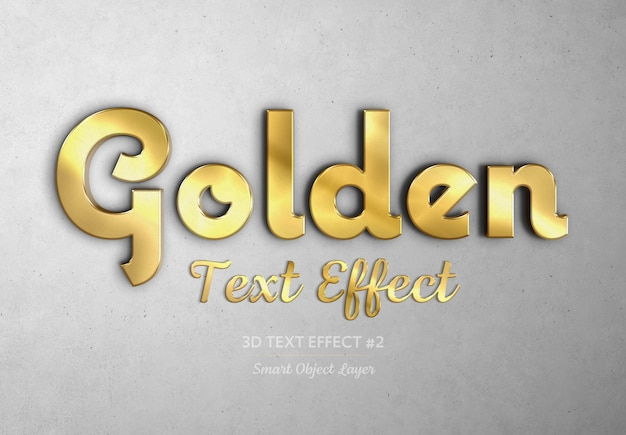 ゴールド3dテキスト効果モックアップ