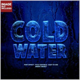 冷たい水氷3dフォント効果