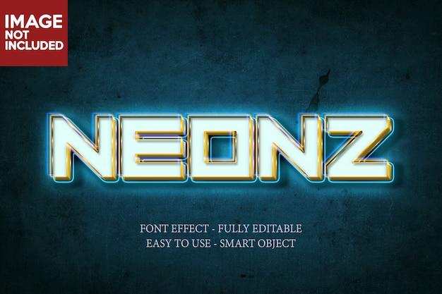 Неоновый 3d-эффект шрифта