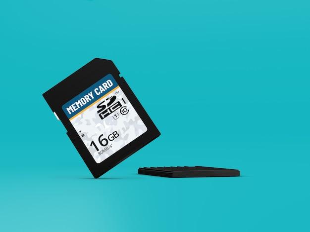 メモリーカード3dモックアップ