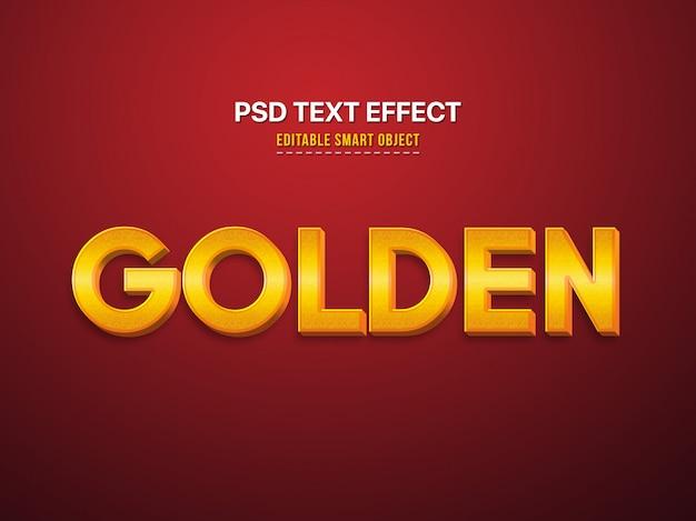 Золотой 3d текстовый эффект