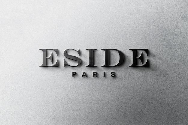 3d логотип макет