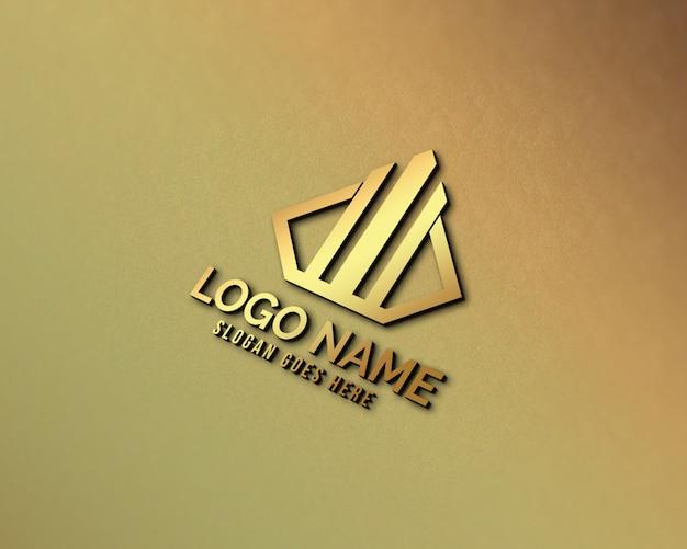 Современный 3d реалистичный логотип макет