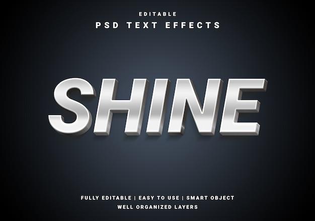 Современный 3d текстовый эффект блеска