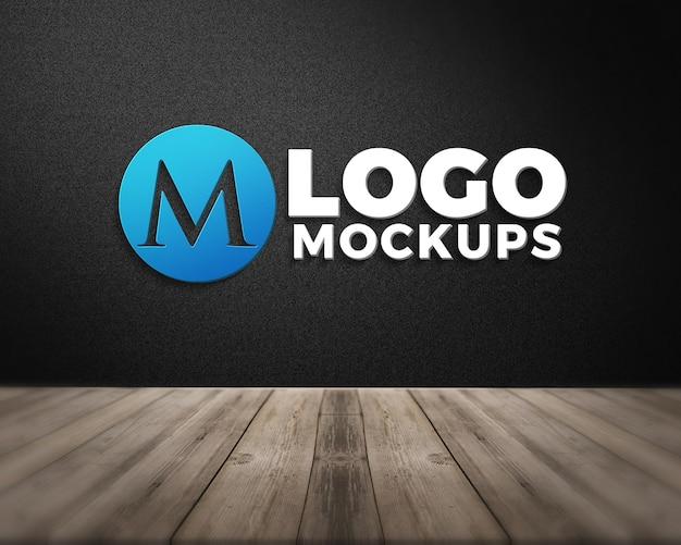Современный реалистичный 3d логотип макет