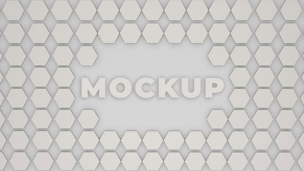 ロゴモックアップオフィス壁3dプレミアム