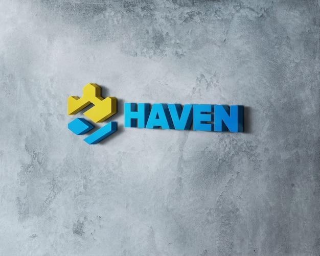 Настенный 3d логотип макет на стену