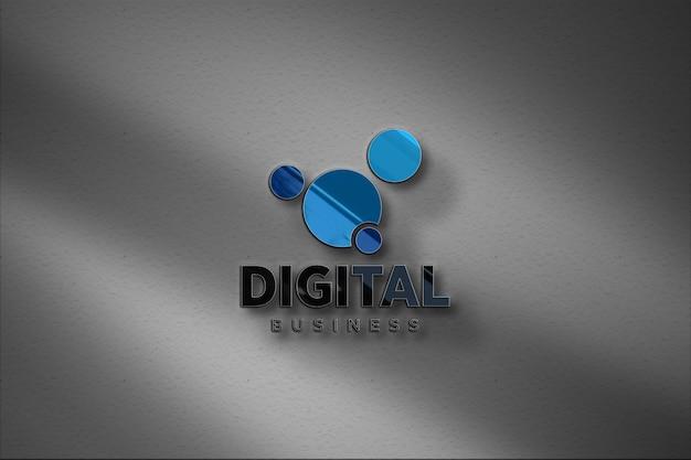 Макет 3d-стиль стеклянных стен