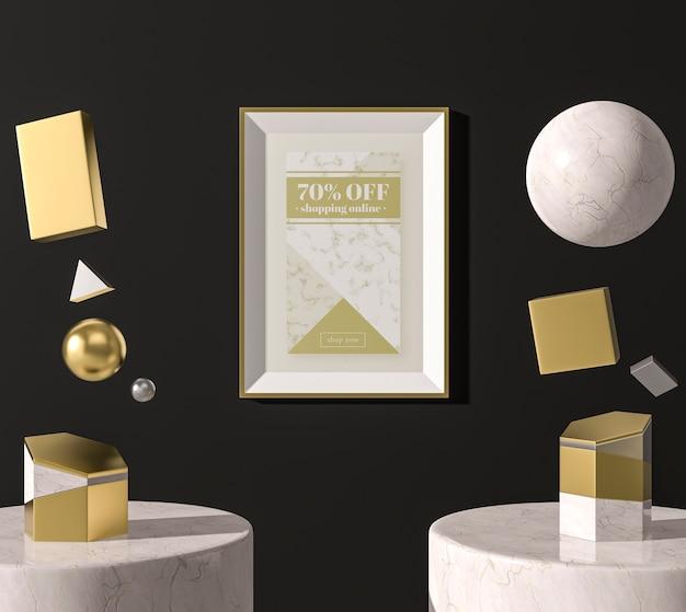 Белая 3d рамка для макета распродажа