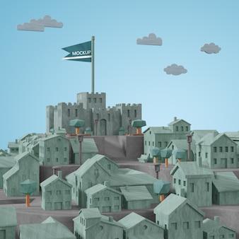 都市世界の日3dモデル