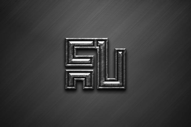 3dテクスチャードロゴのモックアップ