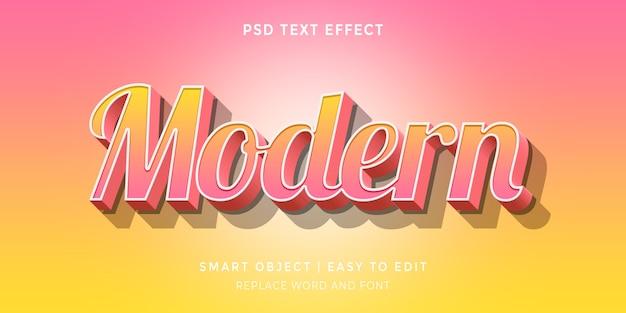 Современный редактируемый текстовый эффект в стиле 3d