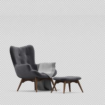 3d представляют изометрического кресла