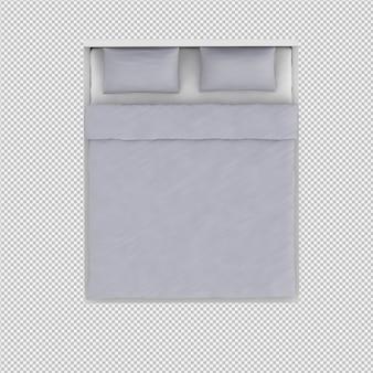 Кровать 3d рендера