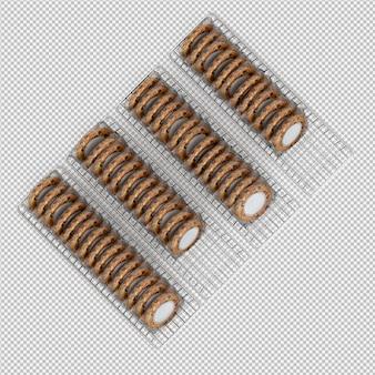 Печенье 3d изолированные визуализации