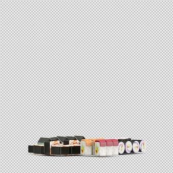 Суши 3d рендер
