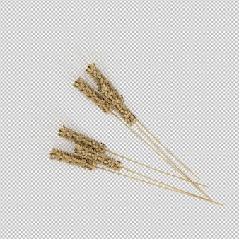 小麦の3dレンダリング