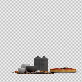 Торт 3d изолированных визуализации