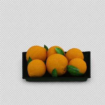 オレンジ3dレンダリング