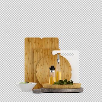Изометрические овощи 3d изолированные визуализации