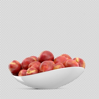Нектарин 3d визуализации