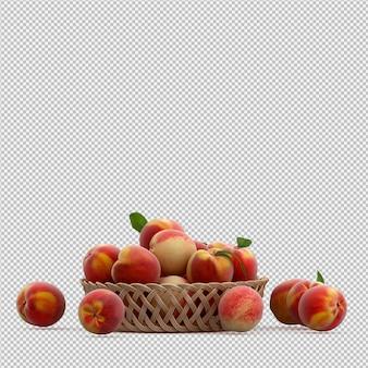 Персики 3d визуализации