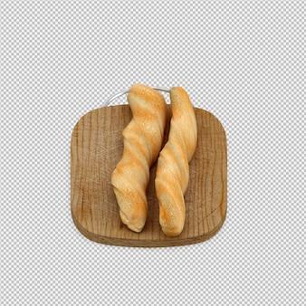 Изометрические хлеб 3d изолированных визуализации