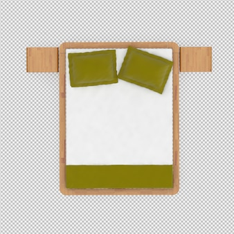 3d представляют изометрической кровати