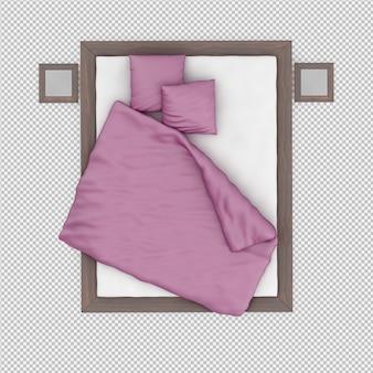 Изометрическая кровать 3d визуализации