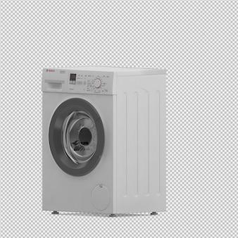 Изометрическая стиральная машина 3d визуализации