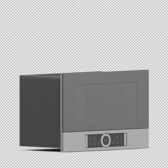 Изометрическая микроволновая печь 3d визуализации