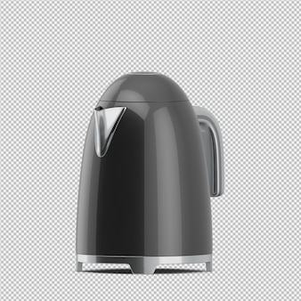 Изометрические чайник 3d визуализации