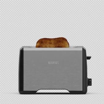 等尺性トースター3dレンダリング