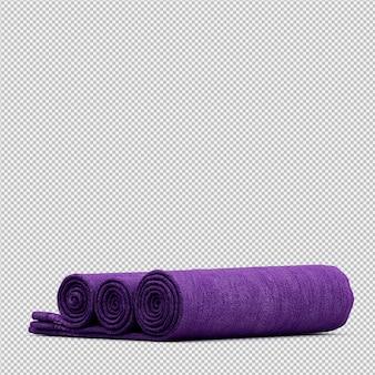 Сложенные полотенца изолированные 3d представляют