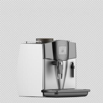 Изометрические кофе-машина 3d изолированных рендеринга