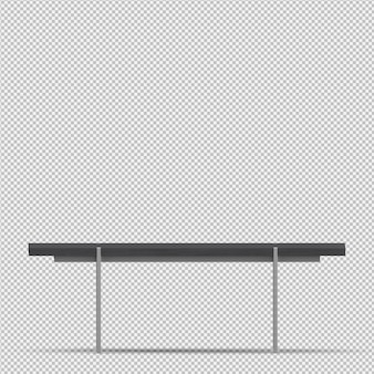 等尺性テーブル3dレンダリング