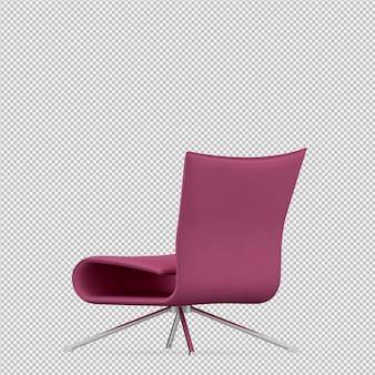 Изометрические стул 3d визуализации