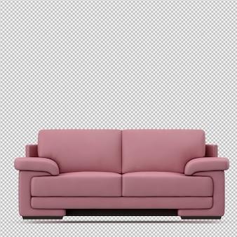 Изометрические диван 3d визуализации