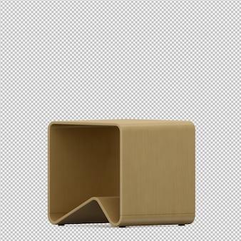 Изометрические кресло 3d визуализации