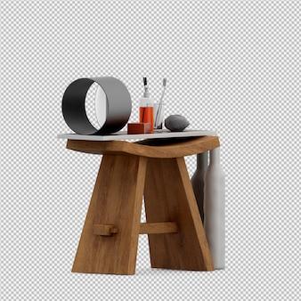 Изометрические аксессуары для ванной комнаты 3d изолированных визуализации
