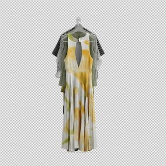 Изометрическая одежда как 3d изолированные визуализации