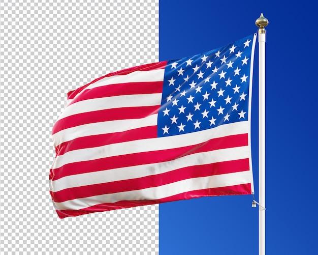 アメリカ国旗3d