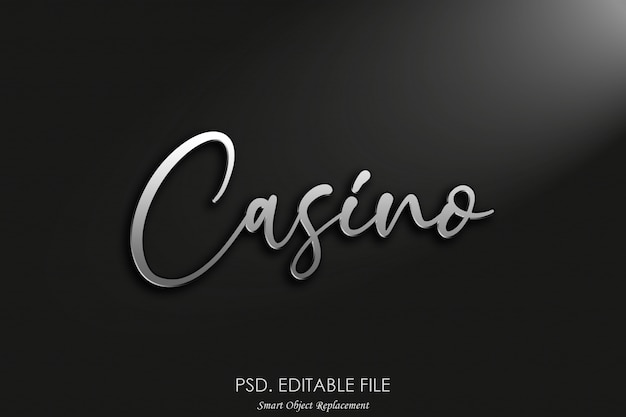 カジノ3dロゴモックアップ