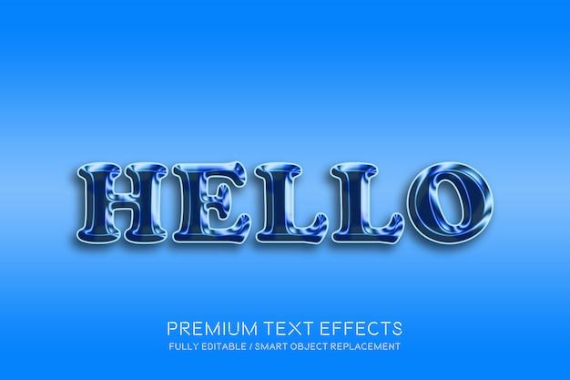 Привет 3d текстовые эффекты